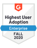 Customer Self-Service - Highest User Adoption - Enterprise - Fall 2020